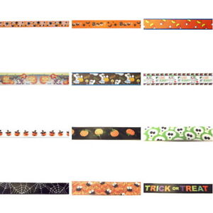 HALLOWEEN-THEME-Ribbon-By-the-yard-great-Scrapbooking-amp-Hair-Bow-Making-Crafts