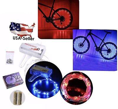 20 LED Rim Wheel Spoke String Strip Flash Light Lamp For Bicycle Bike Cycling