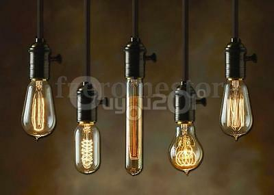 E27 ES Vintage Antique Edison Style Incandescent Light Scoket Cord Lamp Holder