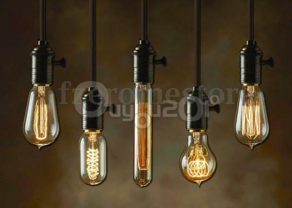 E27 ES Vintage Antique Edison Style Incandescent Light Scoket Cord Lamp Holder