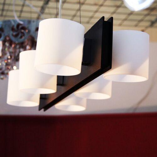 Lustre Suspension Luminaire Lampe Design Queen qn-h6 6 Brûleurs en Opal Verre Soldes