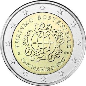 San-Marino-2-Euro-2017-Jahr-des-Tourismus-Stempelglanz-im-Folder
