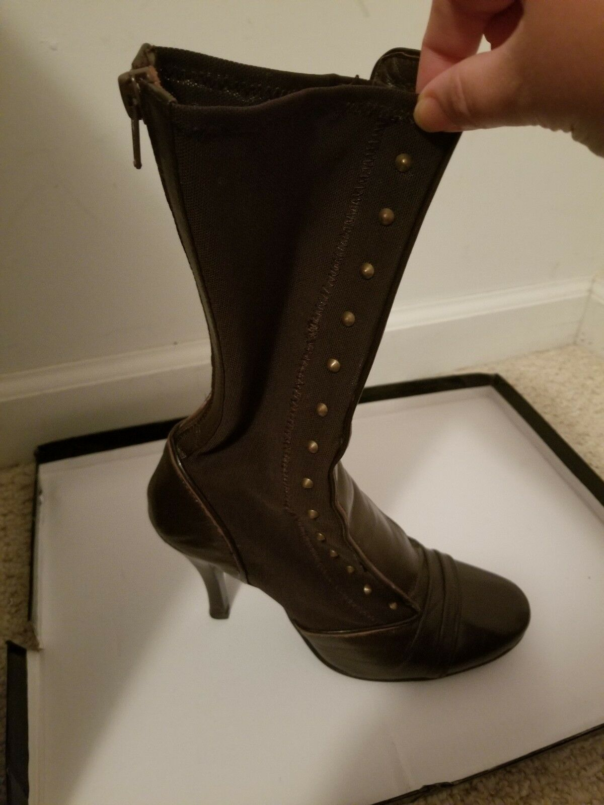 Round toe toe toe Elastic Leg boot c9987b