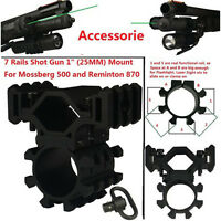7 Rail 1 (25mm) Mount Qd Sling Swivel Remington Mossberg Flashlight And Laser