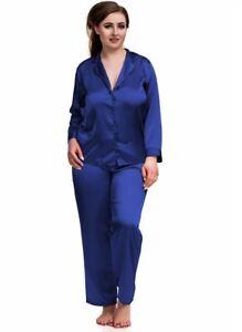 73eced0a8c Nine X Womens Plus Size Lingerie S-6XL Satin Pyjamas Long Sleeve ...