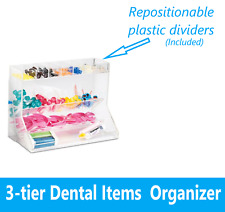 Dental Tips Supplies Organizer 3 Tier Adjustable Top Dividers Compartments
