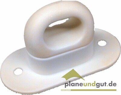 20 x Drehverschluss für Ovalösen, weiß Kunststoff Anhänger Plane Ovalöse