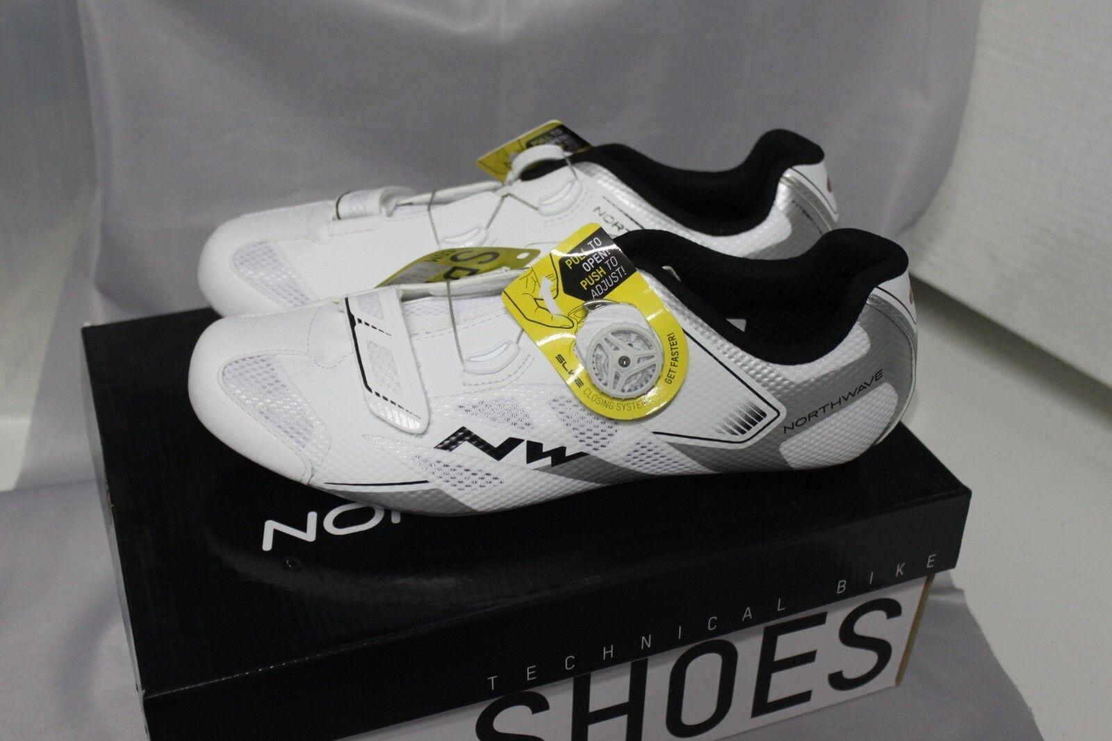 Northwave Sonic 2 Plus Fahrradschuh white silver Size 42 Uvp