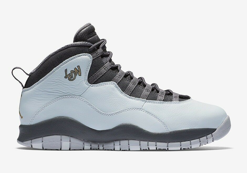 Nike Air Jordan Retro 10 'London' Pure Platinum Grey Uk Size 8.5 310805-004