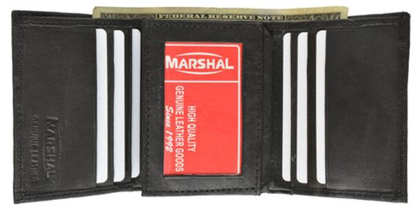 Black RFID Safe Signal Blocking Men Leather Trifold Center Flap Wallet US SELLER