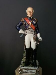 Bloch & Bourdois Porcelain Red White & Blue Dresden Soldier Davoust 1770-1825