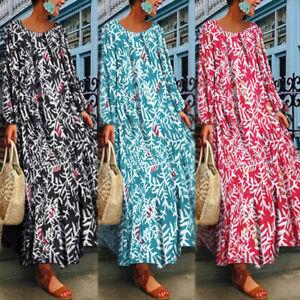 ZANZEA-8-24-Women-Floral-Print-Kaftan-Flare-Swing-Party-Cocktail-Long-Maxi-Dress
