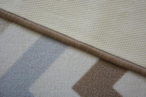 Moderno Suave Antideslizante Alfombra AW Cielo Beige Zigzag Ancho 67,80 CM