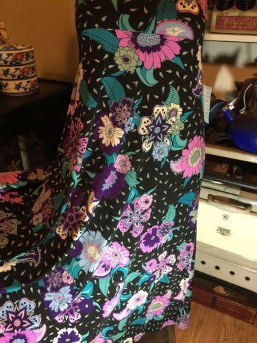 Skirt nero sole l Beautiful turchese viola da Rare Lularoe Maxi Floral e vestito FwEXgq