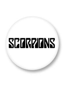 Magnet Aimant Frigo Ø38mm Logo Scorpions Hard Rock Heavy Metal DE Schenker
