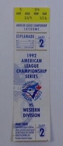 1992-American-League-Championship-Series-Game-2-Ticket-Stub-Baseball-Collectible