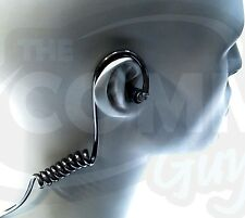 NEW BLACK COILED ACOUSTIC TUBE WITH EARTIP FOR RADIO EARPIECE HEADSET EARPHONE