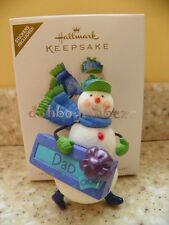 Hallmark 2010 Happy Holi-Dad Snowman Christmas Ornament