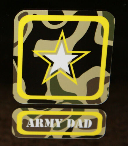 Army Dad decal 2.5x4 inches big