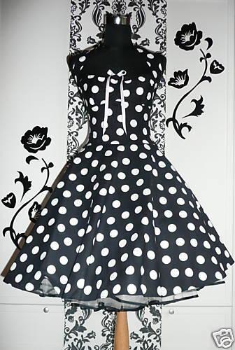 Petticoat Punkte Kleid 50er Jahre Dots rockabilly Pinup