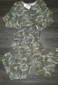 Details about  /Girls justice tie waist cozy super soft jumpsuit size 8 new heathered grey