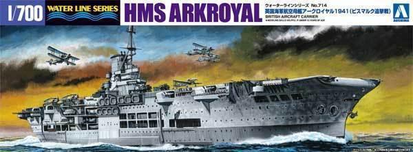 Aoshima 10181 1 700 HMS Aircraft Carrier Ark Royal 1941