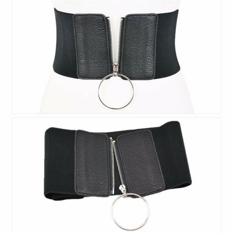 Faja Cintura Cinturón Ancho Cinturón para Mujer Correa señoras de cuero PU Correa de la cintura C