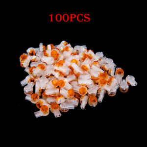 100Pcs-UY2-Butt-Type-Scotchlok-Connector-Grease-Filling-Butt-Wire-Yellow-Good
