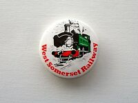 VINTAGE WEST SOMERSET RAILWAY STEAM TRAIN LOCOMOTIVE METAL PIN BADGE BUTTON
