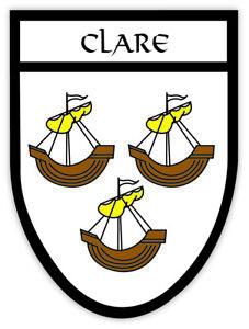 Leitrim Irish County Crest Ireland Decal Sticker Shield  Badge Ireland
