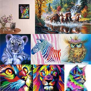 DIY 5D Diamond Painting Kit Tiger Embroidery Cross Crafts Stitch Home Decor