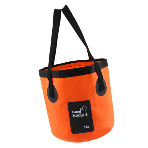 Collapsible Folding Bucket Outdoor Camping Fishing Water Washbasin Bag 12L