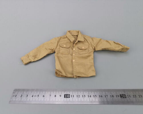 """Dragon 1//6th Figure Sand Men/'s Clothing Long sleeve Shirt For 12/"""" Male Body Doll"""