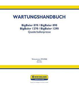Business & Industrie Literatur & Videos Zielsetzung New Holland 870 890 1270 1290 Baler Service Reparaturhandbuch Werkstatthandbuch