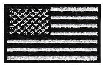 8,2 x 5,0 cm weiß USA Army Flagge Fahne Aufnäher // Bügelbild
