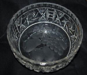 Schale-runde-Form-Kristallglas