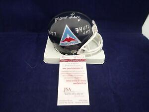 Marv Levy Signed Montreal Alouettes Mini Helmet W/2 Inscriptions  JSA W103554