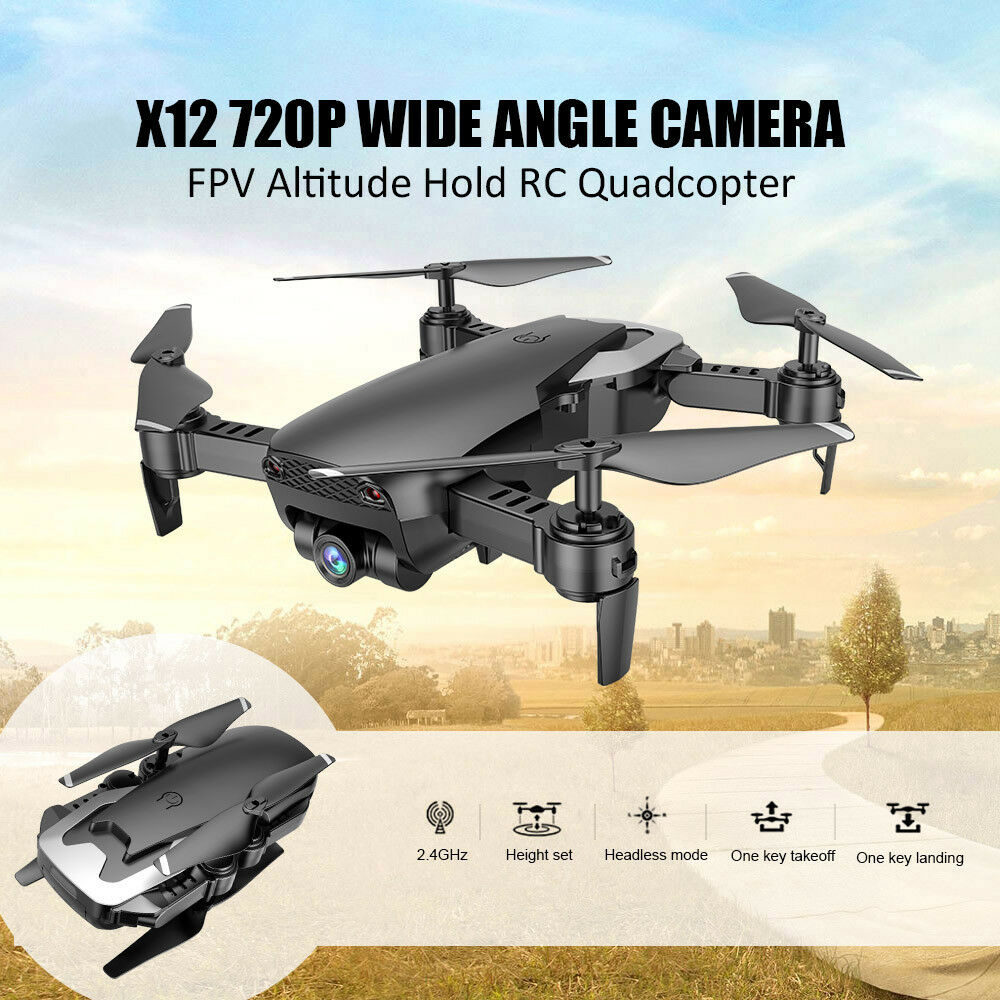 Dongmingtuo X12 720P Wide Angle Camera WiFi FPV Drone Altitude Hold One F4M2