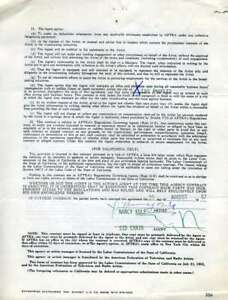 NANCY-KULP-JSA-Coa-Hand-Signed-AFTA-Contract-Authentic-Autograph
