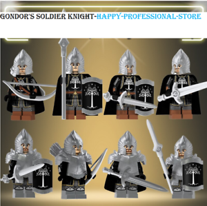 8Pcs Minifigres-Lord of the Rings Warrior Golodh Haldir Terill Medieval Lego MOC