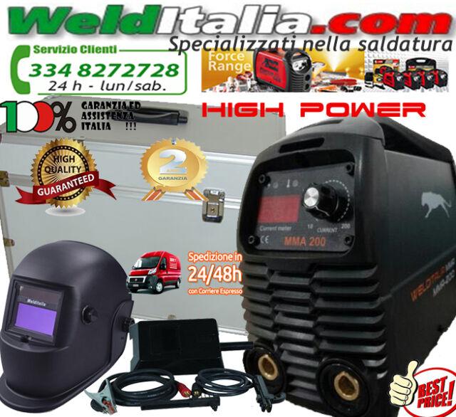 SALDATRICE INVERTER 200A WELDITALIA VALIGETTA ALLUMINIO CAVI 3+2 MT MASCHERA LCD
