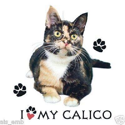 Calico Cat HEAT PRESS TRANSFER for T Shirt Sweatshirt Tote Bag Fabric Block 290d