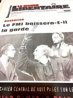 Le Monde Libertaire N° 1697 Du 6/3/2013austéritéfmicameras