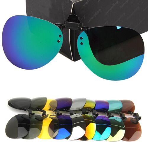Nouveau Hommes//Femmes Polarisé Lentille UV400 conduite Clip-On Flip-Up lunettes de soleil Lunettes
