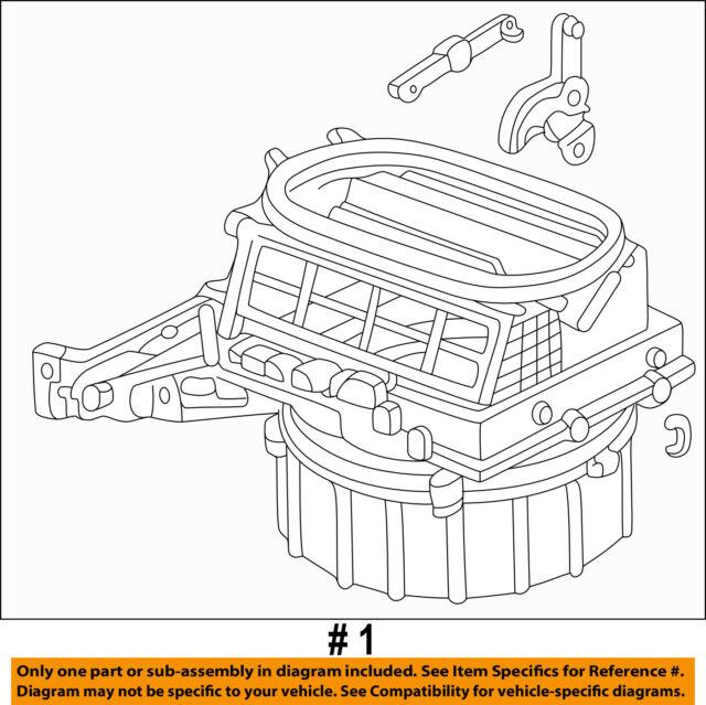 Genuine Honda 79305-S5J-M01 Blower Sub-Assembly