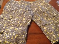 Men's Cargo Shorts BULLETS Size 42x15.25 CLH CREATING LIMITLESS HEIGHTS  #12/15
