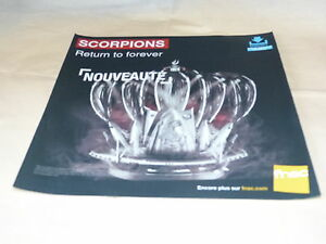 Scorpions-Return-To-Forever-French-Record-Promo-Adv-Display