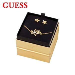 GUESS-Damen-Schmuckset-Armband-Ohrstecker-Ohrring-in-Geschenkbox-Zertifikat