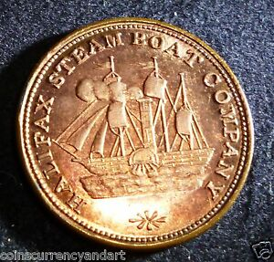 HALIFAX-STEAM-BOAT-COMPANY-FERRY-Token-Breton-900-HIGH-GRADE-UNCIRCULATED