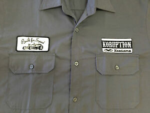Rockabilly-Garage-Bowling-Men-039-s-Grey-Black-Shirt-NEW-Emporium-44-gt-gt-SIZES